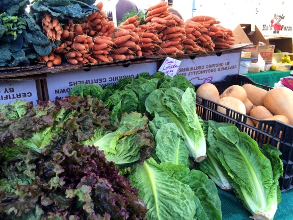 Photo by LDaley_farmers market_lettuce w carrots