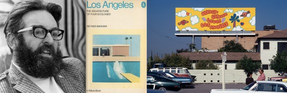 "Reyner Banham Loves Los Angeles is a 1972 BBC Films production following architectural historian Reyner Banham as he tours the ""four ecologies"" of Los Angeles: Surfurbia (beach), Foothills (basin), The Plains of Id (foothills), and Autopia (freeways) by automobile."